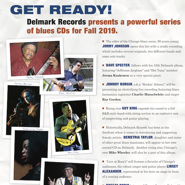 Fall 2019 Blues Releases: 7 New Delmark CDs!